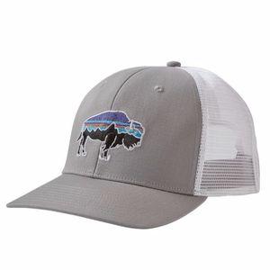 NWT Patagonia Bison Trucker Hat Grey